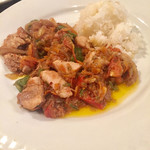 Turkish Kitchen - チキンソテーと付け合わせのライス