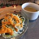 98658780 - ランチのサラダ&スープ