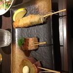 近江野菜鉄板串焼き わえん - コース 海老、サーモン、キャベツ 1人分