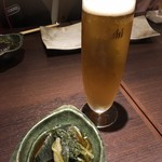 近江野菜鉄板串焼き わえん - 生ビール