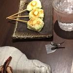 近江野菜鉄板串焼き わえん - ふわふわ枝豆豆腐