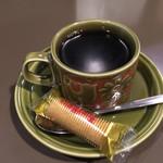 よつばカフェ - 食後のコーヒー。コップ、可愛い。