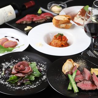 """◆歓迎会・送別会に、当店自慢の""""お肉のフルコース料理""""を!"""