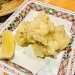 天満産直市場 - 最後の最後に隣のテーブルの白子の天ぷらがきたから…一個もらう