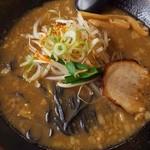 福家 - 黒コク味噌ラーメンアップ。