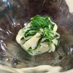 串焼き鈿 - 水菜おひたし