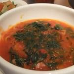 カナリア - ホウレン草とベーコンのトマトスープ