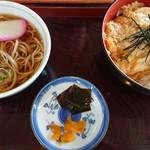 香雅 - カツ丼ランチ、そば変更(税込860円)