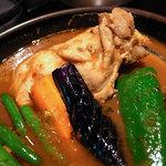 RAMAI - チキンカレー、スープ大盛り、 辛さ7(無料)