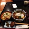 そば処 藤屋 - 料理写真:目黒のさんまそば950円、小かつ丼500円