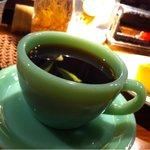 自家焙煎珈琲豆屋cafe use喫茶室 - カップ&ソーサーはファイヤーキング