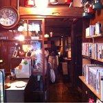 自家焙煎珈琲豆屋cafe use喫茶室 - 入り口から