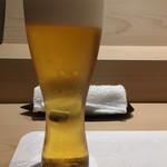すし貫 - 生ビール