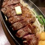 1ポンドのステーキハンバーグタケル - サーロインステーキアップ