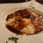 クロッキオ - リゾット フォアグラと温泉卵トリュフのソース1,800円