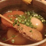 京Apollo 六角 - おでん盛り。お出汁のかおりが高く、京都再在中おでんな夕飯ばかりでしたが一番美味しいと感じました。つくねほろほろ。お大根しみしみです。