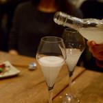 恵比寿 箸庵 - 日本酒スパークリング「とんぼ」