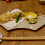 恵比寿 箸庵 - 季節の天ぷらはエビ天