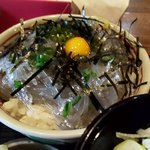えびや食堂 - ミニ生しらす丼(アップ)