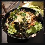 全力鶏 - 蒸し鶏のチョレギサラダ