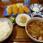 手打ち蕎麦 きのえね - 広島産カキフライ、ミニそばセット