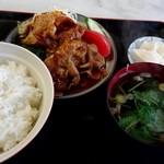 栗林食堂 - 焼肉定食(ご飯大盛り)