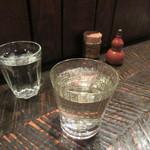 よしむら - 冷酒180㏄のグラス(阿部勘)
