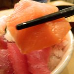 新宿 御さしみ家 - 海鮮丼のタコ