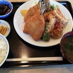 CooK鮎川 - 料理写真:アジフライ定食