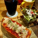 98712256 - PIZZA TOAST SETモーニング500円