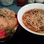 小諸そば - 料理写真:秋の天丼とかけ蕎麦セット