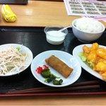 天宝 - エビマヨ定食680円 ラーメン抜きです。