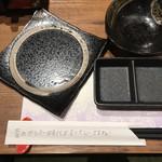 藁焼き 日本酒処 龍馬 - 箸袋にそれぞれ手書きのメッセージ