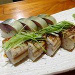 魚哲 - サバと穴子のお寿司