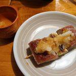 魚哲 - マグロのねぎま串