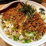 麺小屋 てち - 料理写真:担担まぜそば 大(腹ぱんぱん) + とろ〜り半熟玉子