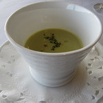 9873612 - 本日のスープ  ブロッコリーと道産米のスープ
