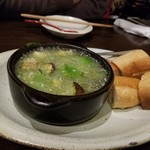 神戸野菜とフルーツ kitchen de kitchen~キッチン デ キッチン~ - アボカドときのこのアヒージョ パン付き