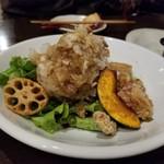 神戸野菜とフルーツ kitchen de kitchen~キッチン デ キッチン~ - 大根おろし 若鶏の唐揚げ 脂っこくなくて食べやすい