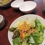 JOE'S SHANGHAI NEWYORK - 春野菜のグリーンサラダ 香味野菜のドレッシング             ('2018.12月)