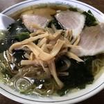 大黒食堂 - ワカメ入りラーメン@800円 大盛り+150円