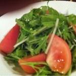 9874167 - 水菜とトマトのサラダ