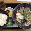 さぬき - 料理写真:肉うどん(¥700)+定食(¥200)