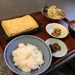 與五郎 - お袋としては、與五郎で初めて食べただし巻き定食750円(税別)です(2018.12.20)