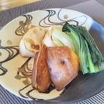 鉄板・懐石 くら馬 - 特選ステーキコースの焼野菜