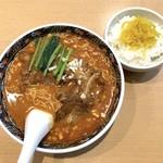 寿限無 担々麺 - パイコー担々麺(1,080円)とサービスライス