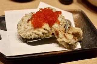 天ぷらと日本酒 明日源 - あわびの天ぷら