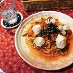 まとい亭 - 揚げもち入り野菜のトマトソース チーズ入り