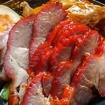 金陵 - 二種盛り丼(チャーシュー&焼き鶏)