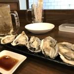 磯っぺ里 - 殻付き生牡蠣(2018.12.20)